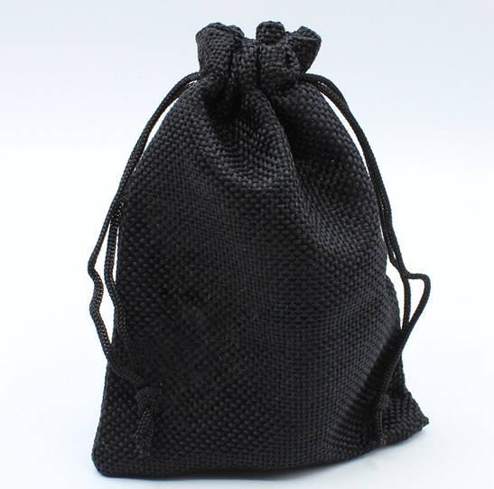 """Мешочек подарочный """"Ткань чёрный однотонный 12 х 9 см"""""""