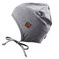 Демисезонная трикотажная шапочка для мальчика 3-9 лет (Р.: 3/5, 6/8) ТМ Peluche&Tartine Серый S18 TU 57 EG
