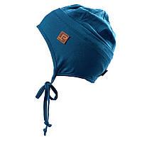Демисезонная трикотажная шапочка для мальчика 3-9 лет (Р.: 3/5, 6/8) ТМ Peluche&Tartine Синий S18 TU 63 EG