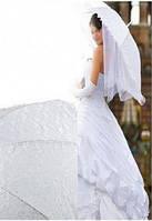 Свадебный зонт-трость Код:4940