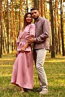 Парные вышиванки мужская рубашка и женское платье в пол