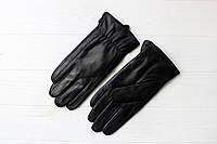 Мужские кожаные перчатки Айнур 2 черные 9.5