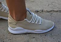 Женские кроссовки копия Nike Roshe Run бежевые, фото 1