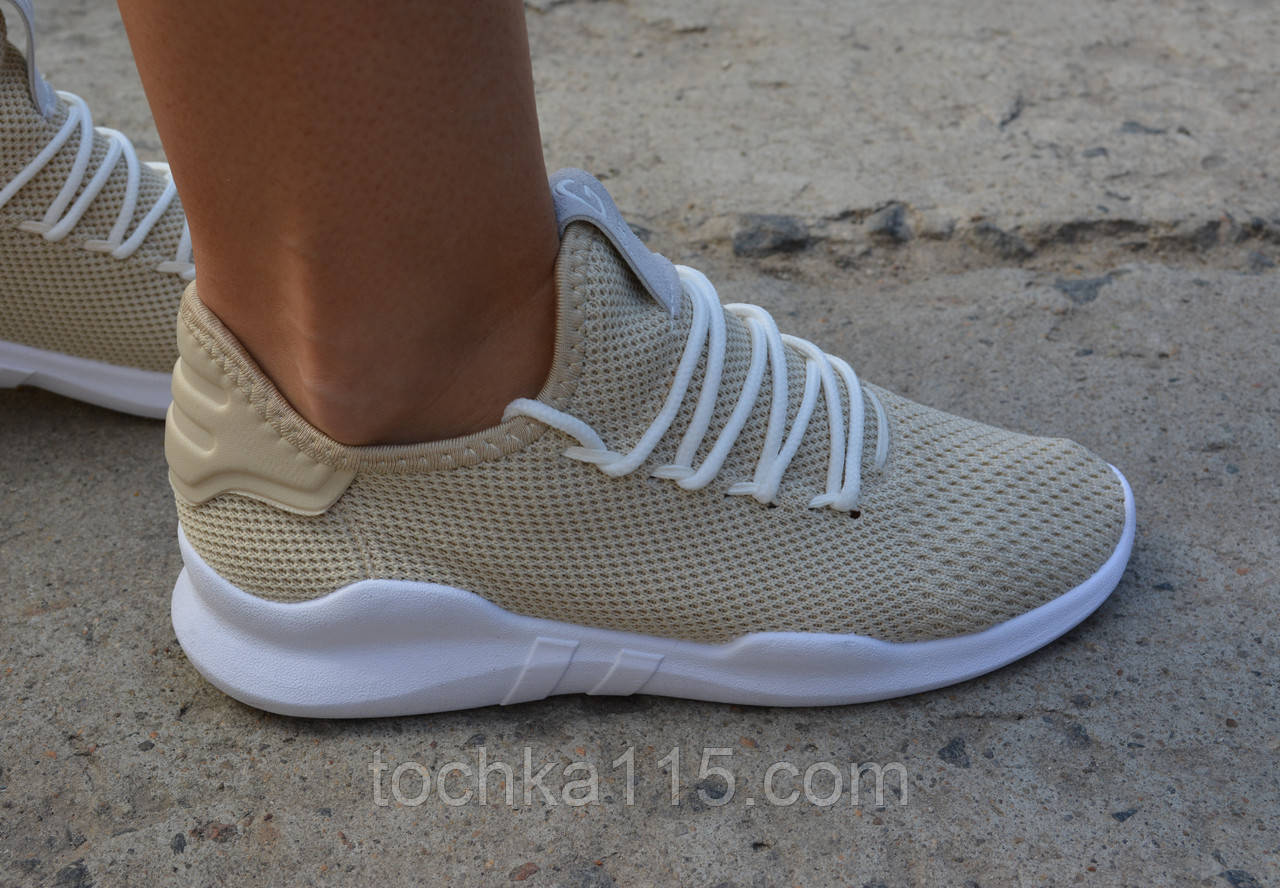 Женские кроссовки копия Nike Roshe Run бежевые