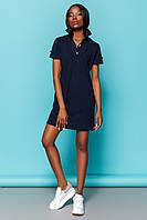 Практичное Платье Рубашка на Лето Синее S-XL