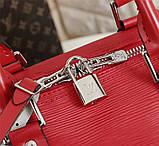Дорожная сумка Луи Витон, Супрем, 45 см, красная, кожаная реплика, фото 5