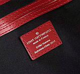 Дорожная сумка Луи Витон, Супрем, 45 см, красная, кожаная реплика, фото 9