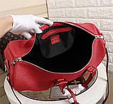 Дорожная сумка Луи Витон, Супрем, 45 см, красная, кожаная реплика, фото 8