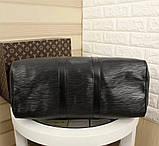 Дорожня сумка Луї Вітон Супрем, 45 см, чорна, шкіряна репліка, фото 4