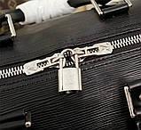 Дорожня сумка Луї Вітон Супрем, 45 см, чорна, шкіряна репліка, фото 8