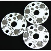 Плата алюминиевая (подложка) для 3-х светодиодов