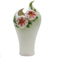 Декоративная ваза из фарфора Цветы
