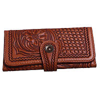 8a2b4dd632e0 Набор женское портмоне кожаное - клатч и ключница с тиснением шеридан  mod.008
