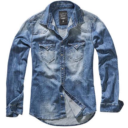 Мужская рубашка джинсовая  Brandit Riley Denim BLUE, фото 2