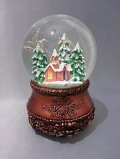 "Снежный шар ""Церквушка в бронзе"", фото 2"
