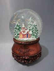 "Снежный шар ""Церквушка в бронзе"", фото 3"