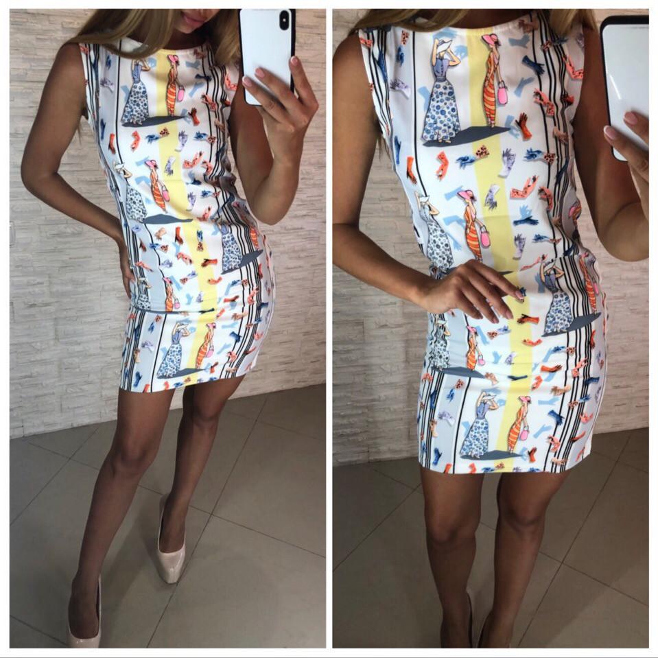 4a01647d736 Женское летнее платье без рукавов - Интернет-магазин