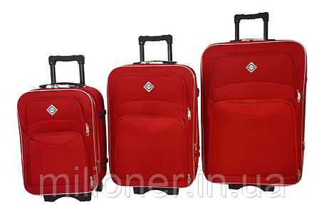 Чемодан Bonro Style набор 3 шт. красный, фото 2