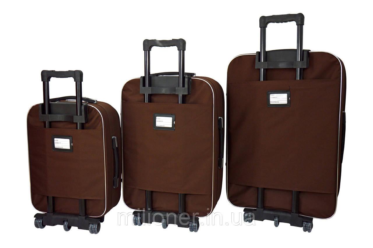 Чемодан Bonro Style набор 3 шт. коричневый