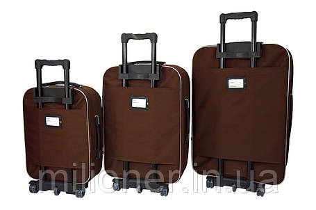 Чемодан Bonro Style набор 3 шт. коричневый, фото 2