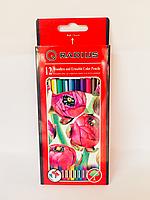 Цветные Цветные карандаши с ластиком RADIUS 12 цветов