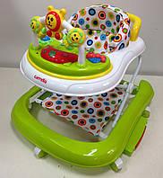 Детские ходунки Carrello Карело crl-9602  3 в 1: ходунки, качалка, каталка, с подвесками, light green