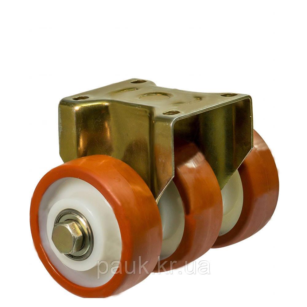 """Колесо 5307-MTS3-100-B(53 """"Medium Top Special 3"""") Ø 100мм, потрійне неповоротне посилене з кріпильною панеллю"""