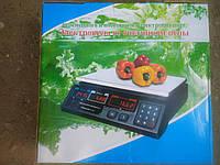 Электровесы со счетчиком цены, до 30 кг.