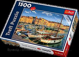 Пазлы Trefl 1500шт (26130) 58*85см (Старый порт в Сан-Тропе)