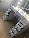 Стол  визажиста с витриной на столешнице, гримерный столик, зеркало с подсветкой, белый, фото 3