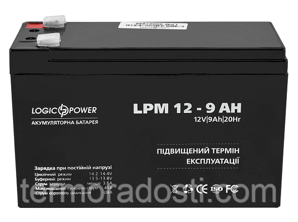 Аккумулятор для ИБП Logic-Power AGM LPM 12 - 9.0 AH
