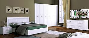 Спальня Bella Глянец белый