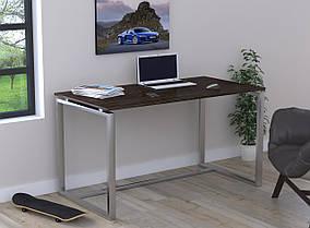 Письменный стол Q-135 без царги металл Серебристый ДСП Венге корсика (Loft Design TM)