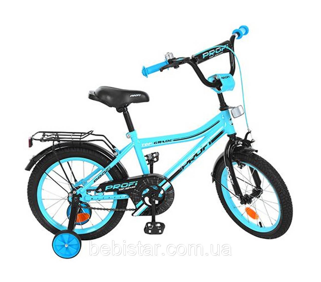 """Двухколесный велосипед  PROFI 16"""" Y16104 детям 5-6 лет цвет бирюзовый"""