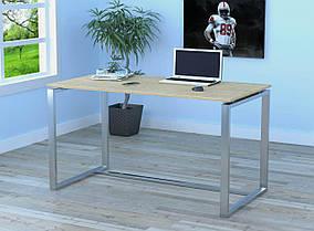 Письменный стол Q-135 без царги металл Серебристый ДСП Дуб борас (Loft Design TM)