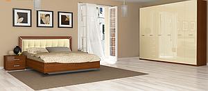 Спальня Bella Глянец ваниль-вишня бюзум