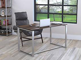 Письменный стол Q-135 без царги металл Серебристый ДСП Орех модена (Loft Design TM)