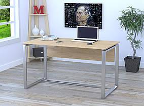 Письменный стол Q-135 с царгой металл Серебристый ДСП Дуб борас (Loft Design TM)