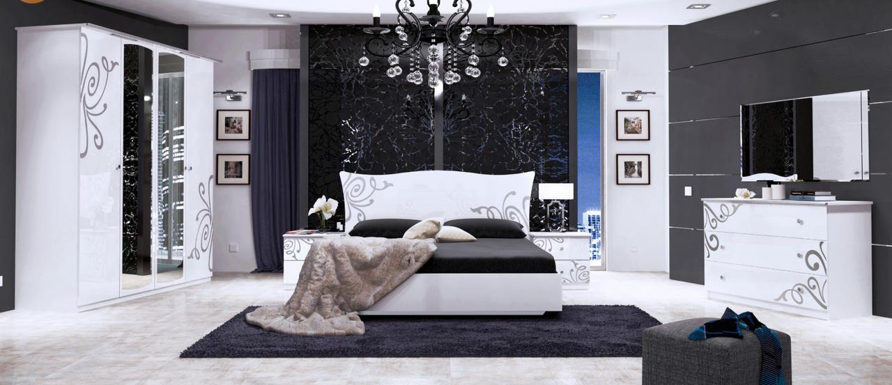 Спальня Bogema Глянец белый