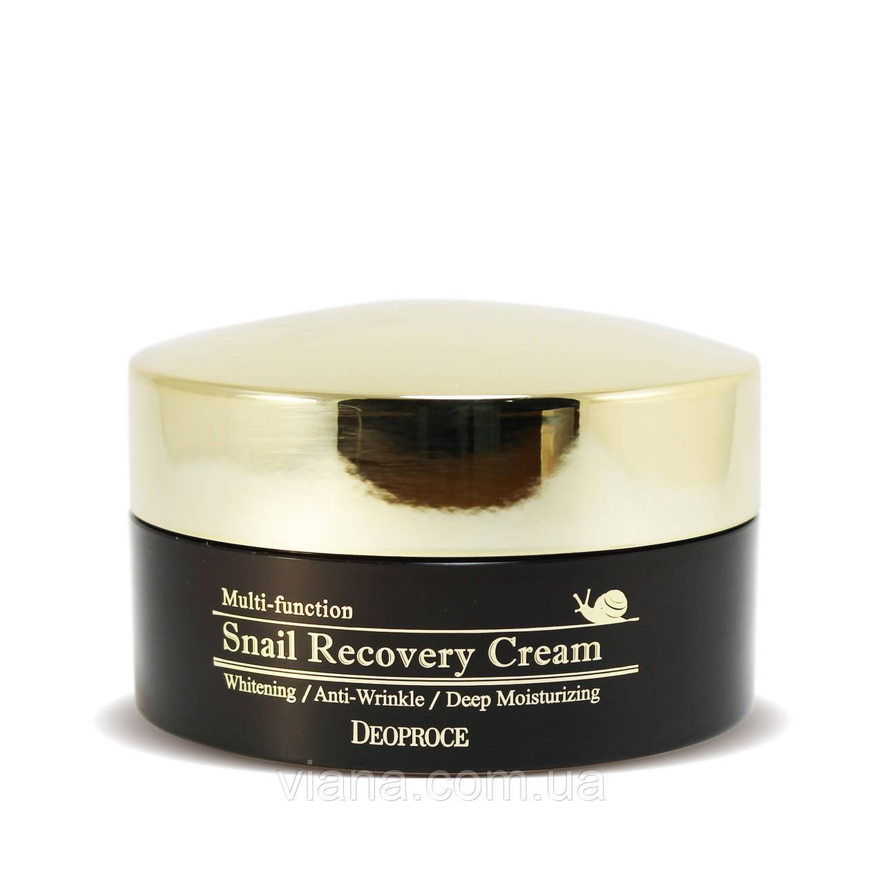 Многофункциональный восстанавливающий крем с улиточной слизью Deoproce Snail Recovery Cream 100 мл