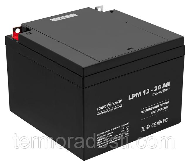 Аккумулятор для ИБП Logic-Power AGM LPM 12 - 26 AH