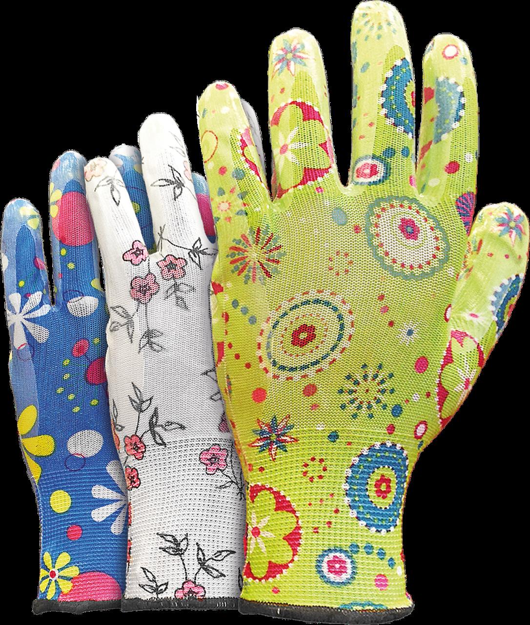 Перчатки защитные, изготовленные из полиестра, покрытые нитрилом RGARDEN-NI MIX . REIS Польша