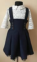 Школьная юбка/комбинезон/сарафан для девочки,школьная форма 2018, фото 1