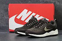 Кроссовки мужские Nike летние, повседневные для бега (коричневые), ТОП-реплика, фото 1