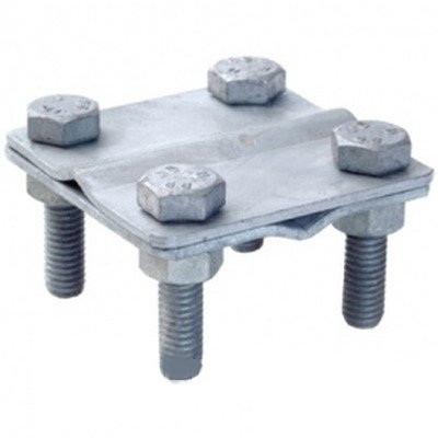 З'єднувач провід-смуга c розподільчою пластиною, провід d8-10мм/смуга 25х4мм, сталь оцинкована DKC
