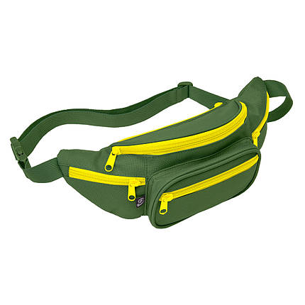 Сумка поясная Brandit Waist belt bag Oliv-yellow, фото 2