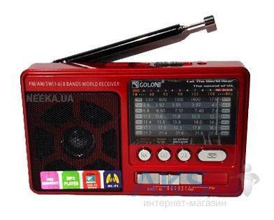 Портативное радио ФМ RX-181 на аккумуляторе и батарейках , фото 2