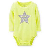 """Боди Картерс с динным рукавом """"Мамина маленькая звезда"""" Carter's!"""