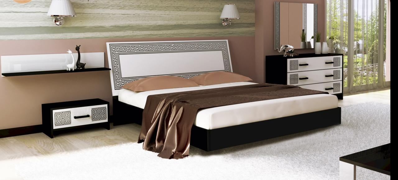 Спальня Viola Глянец белый -черный мат