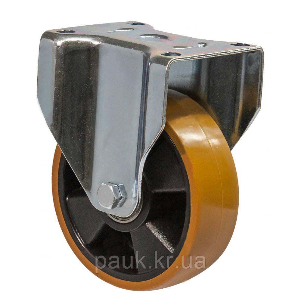 """Колесо 5407-M-100-B(54 """"Medium"""") Ø 100мм, неповоротне посилене з кріпильною панеллю, кульковий підшипник"""